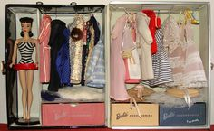 TM Barbie fashions, lovingly displayed! From the collection of Gene Foote.