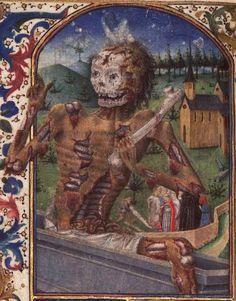 From Horae ad usum Pictaviensem manuscript, 1455-1460.Bibliothèque nationale de France.