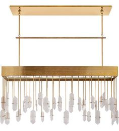Buy the Visual Comfort KW Antique Burnished Brass Direct. Shop for the Visual Comfort KW Antique Burnished Brass Halcyon Linear Chandelier by Kelly Wearstler and save. Transitional Lighting, Transitional Living Rooms, Transitional Bathroom, Transitional House, Visual Comfort Lighting, Linear Chandelier, Kelly Wearstler, Light Fittings, Home Lighting