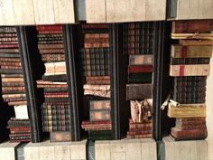 Give me a close up please! Contrasting colors and tones really make the books on the set of Beautiful Creatures really stand out. www.bookdecor.com