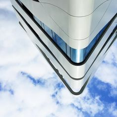 """#upsidedown #justgoshoot #eravsco #berlin #building #geometric #urban #clouds #sky #minimal #minimalism #minimalist #city #corner #architecture #abstract…"""