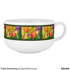 Tulips Enchanting Soup Mug