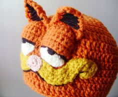 Crochet Hat  Retro Cartoon 3D Cat Hat in Bright by bitteroclock, $38.00