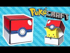 How to make a POKEBALL (Pokemon Go + Minecraft) - Surprise Box - Simple ...