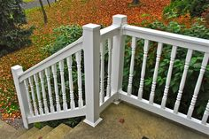 Vinyl T Rail outdoor stair railin. Vinyl Railing, Deck Railings, Outdoor Stairs, Wrist Tattoos For Women, Aesthetic Value, American Made, Porch, Outdoor Decor, Home Decor