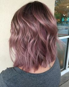37 Hottest Ombré Hair Color Ideas of 2019 - Style My Hairs Cabelo Rose Gold, Cabelo Ombre Hair, Rose Gold Hair, Dusty Pink Hair, Purple Tinted Hair, Dusty Rose Hair Color, Hair Color Pink, Cool Hair Color, Short Hair Colors
