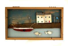 Seaside scene in a box