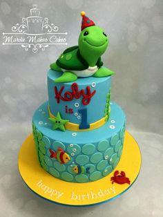 1st Birthday Turtle  by Mardie Makes Cakes