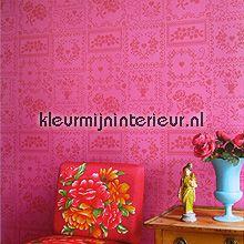 pip crossstitch pink behang 386003 romantisch Eijffinger