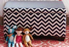 Upholstered Diamond Patterned Storage Bench