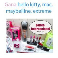 Gana  hello kitty mac maybelline extreme ^_^ http://www.pintalabios.info/es/sorteos-de-youtube/view/es/120 #Internacional #Sorteo #Maquillaje
