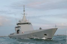 Offshore Patrol Vessel of Gowind® class OPV L'Adroit built by DCNS, and under trial by the French Marine Nationale.