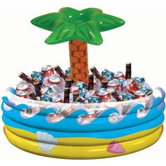 Amscan Palm Tree Inflatable Buffet Ice Cooler Drinks Summer Party Luau Hawaiian in Home & Garden, Greeting Cards & Party Supply, Party Supplies | eBay