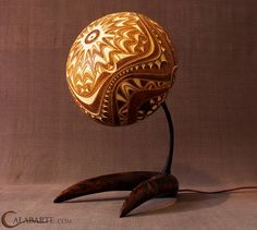 I cant pin just one of these gourd lamps- beautiful even when not lit!