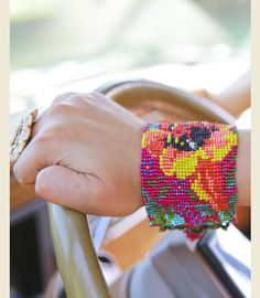 GYPSY CARAVAN HAND-BEADED CUFF