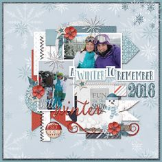 Page by Atusia using Winter Melody by JoCee Designs