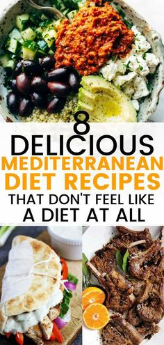 These Mediterranean diet recipes are great for weight loss and overall health. M… These Mediterranean diet recipes are great for weight loss and overall health. Mediterranean recipes that will make your diet easier. Easy Mediterranean Diet Recipes, Mediterranean Dishes, Mediterranean Breakfast, Med Diet, Medatrainian Diet, Juice Diet, Low Carb Diet Plan, Heart Healthy Recipes, Delicious Recipes