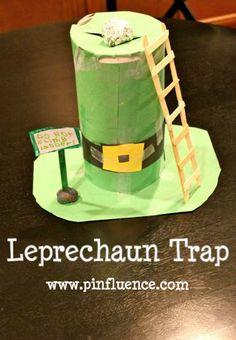 Leprechaun Trap... awww, Jill did these in kindergarten!