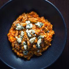 Pureed Pumpkin Risotto with Walnuts