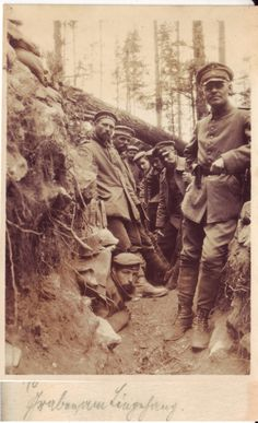 German trench in the Argonne forest. 1916.