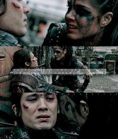 "#The100 4x10 ""Die All, Die Merrily"" -  Octavia and Ilian"