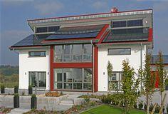 Haus Style  Außenansicht - Fertighaus - Pultdach - Plusenergiehaus