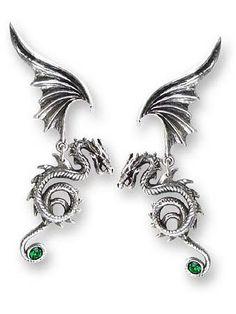 Bestia Regalis Dragon Earrings by Alchemy Gothic   Gothic