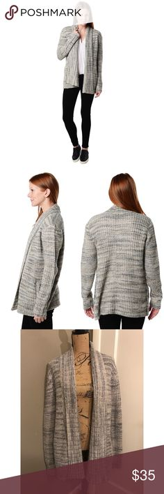 Three Dots Open Cardigan Marled gray open front cardigan in great condition. Three Dots Sweaters Cardigans