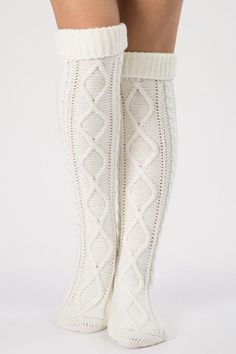 Thick Cable Knit Over Knee Socks – Knitting Socks Thigh High Boots Heels, Thigh High Socks, Thigh Highs, Heel Boots, Cable Knit Socks, Knitting Socks, Over Knee Socks, Latex Fashion, Fashion Goth
