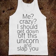 It's a tank, but can be worn year-round. Why? #unicorns.