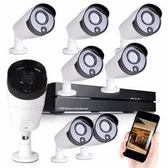 """406.00$  Watch now  - """"1/4 """"""""CMOS Waterproof 8CH NVR Home Surveillance 960P HD IP Network PoE Outdoor Security Camera System IR-CUT simple installation"""""""