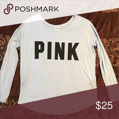 Victoria's Secret pink tee Stretchy and slouchy Victoria's Secret pink long sleeved graphic tee. Very soft material. Size small, new PINK Victoria's Secret Tops Tees - Long Sleeve