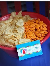 2 of my favorite snacks | gold fish and chips