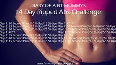 Diary of a Fit Mommy: Diary of a Fit Mommy's14 Day Ripped Abs Challenge