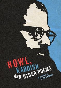 Book cover for poems by Allen Ginsberg, designed by Martin Cameron