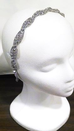 CRYSTAL HEADBAND BRIDAL, EVENING, WEDDING Add a beautiful crystal headband to your bridal or evening look! With small and large crystal