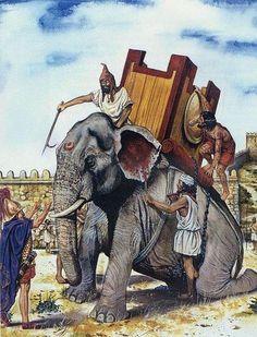 Elefante cartaginés. Más en www.elgrancapitan.org/foro