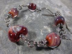 Red Heart   Unicorne Lampwork Beads and by PattiVanderbloemen, $55.00