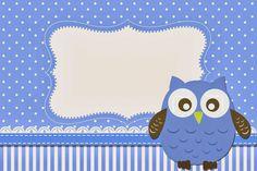 Blue Owl Free Printable Invitations.