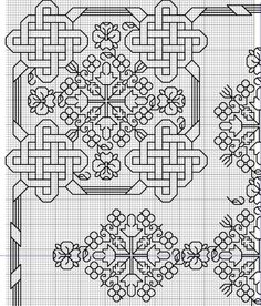 Celtic Knot for Quaker Ball Gallery. Blackwork Cross Stitch, Celtic Cross Stitch, Blackwork Embroidery, Folk Embroidery, Cross Stitch Borders, Cross Stitch Designs, Cross Stitching, Cross Stitch Embroidery, Embroidery Patterns