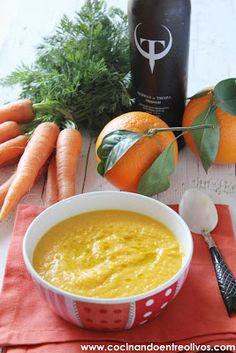 Cocinando entre Olivos: Crema de zanahoria y naranja. Receta paso a paso.
