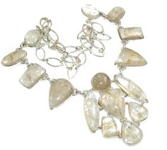 Golden Rutilated Quartz Necklace Real 925 Sterling Silver 54g Handmade Necklaces | eBay