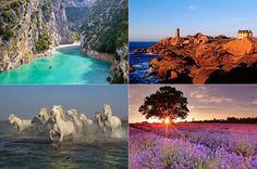 Frankreich ist nicht umsonst das meistbesuchte Reiseland der Welt. Neben einer vorzüglichen Küche, ebensolchen Weinen und der an Kultur und Architektur reichen Hauptstadt Paris ist es vor allem auch die landschaftliche Vielfalt Frankreichs, die jährlich mehr als 80 Millionen Besucher anlockt. Wir zeigen 18 Naturwunder zwischen Atlantikküste und Mittelmeer.