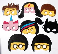 Is your kids crazy about Lego Movie? Here is the perfect gift for them. 7 choices of masks…They are made out of Felt, cut in perfect shape to