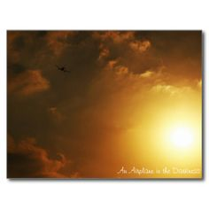 An airplane in The darkness , Attraction Postcard