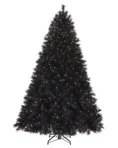 Treetopia - Tuxedo Black Artificial Christmas Tree #BlackChristmasTree