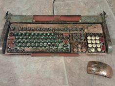 Steampunk typewriter keyboard