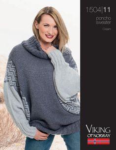 Cream – Poncho Sweater – 1504-11 | Knitting Fever Yarns & Euro Yarns, free pattern download