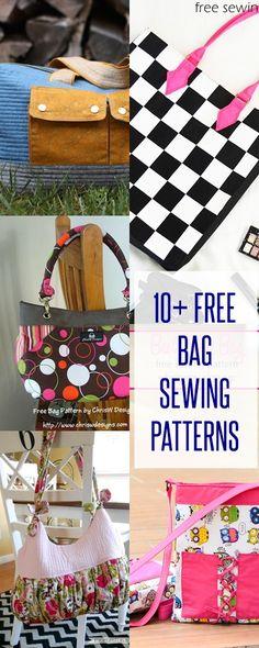 Handbag patterns | free bag patterns | free tote patterns | purse patterns