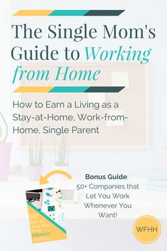 The Single Moms Guide to Working from Home - Single Mom Living - Ideas of Single Mom Living - Save on daycare expenses spend more time with your family and make ends meet The Single Mom's Guide to Working from Home and Ways to Earn Whenever You Want! Work From Home Tips, Stay At Home Mom, Make Money From Home, Way To Make Money, Single Mom Help, Jobs For Single Moms, Legitimate Work From Home, Blog Planning, Home Based Business